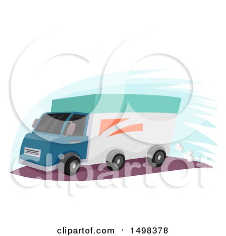 Clipart of a Delivery Truck - Royalty Free Vector Illustration by BNP Design Studio