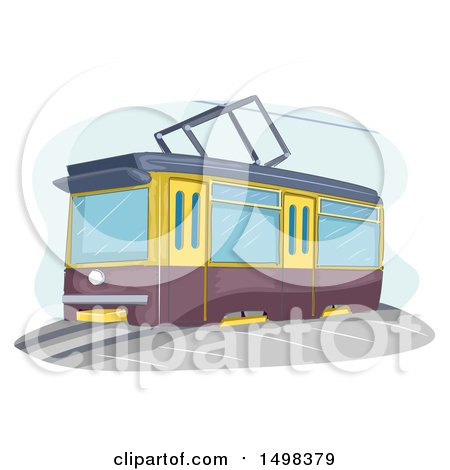 Clipart of a Tram - Royalty Free Vector Illustration by BNP Design Studio