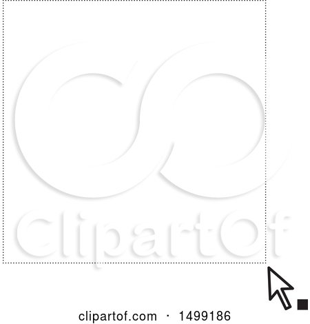 Clipart of a Computer Cursor Dragging a Frame - Royalty Free Vector Illustration by Lal Perera