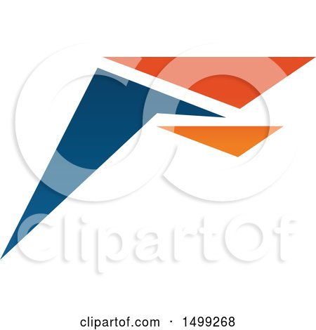 Clipart of an Abstract Letter F Logo - Royalty Free Vector Illustration by Vector Tradition SM