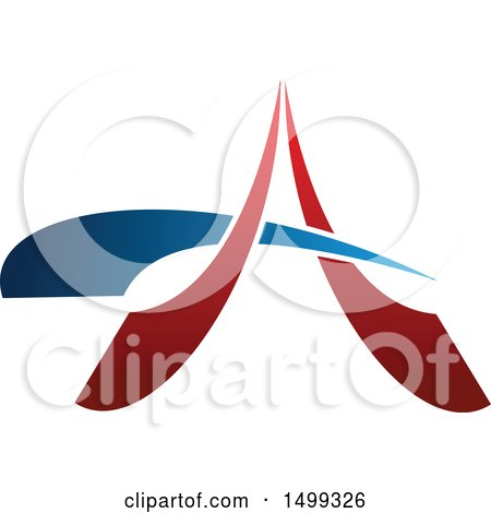 Clipart of an Abstract Letter a Logo - Royalty Free Vector Illustration by Vector Tradition SM