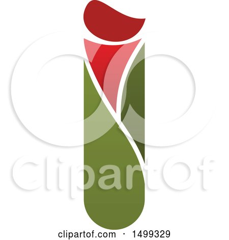 Clipart of an Abstract Letter I Logo - Royalty Free Vector Illustration by Vector Tradition SM