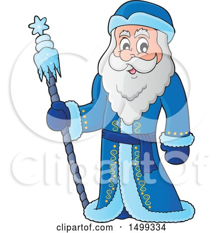 Clipart of Father Frost or Santa Claus - Royalty Free Vector Illustration by visekart