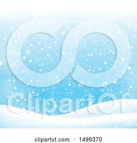 Clipart of a Winter Snow Background - Royalty Free Vector Illustration by visekart