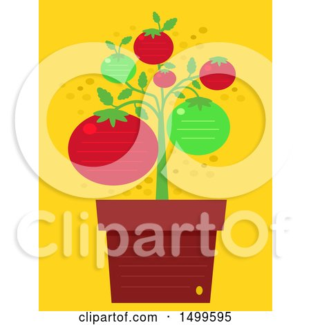 Potted Tomato Plant Clipart