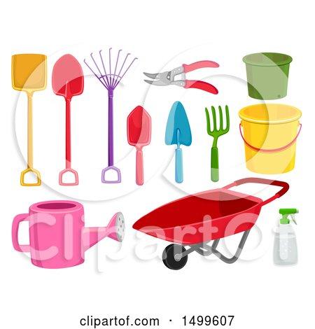 Clipart of Garden Tools - Royalty Free Vector Illustration by BNP Design Studio