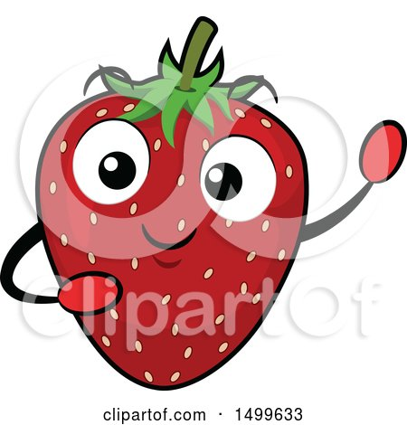 Clipart of a Strawberry Character Mascot - Royalty Free Vector Illustration by BNP Design Studio