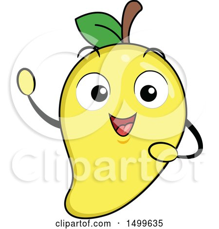 Clipart of a Mango Character Mascot - Royalty Free Vector Illustration by BNP Design Studio