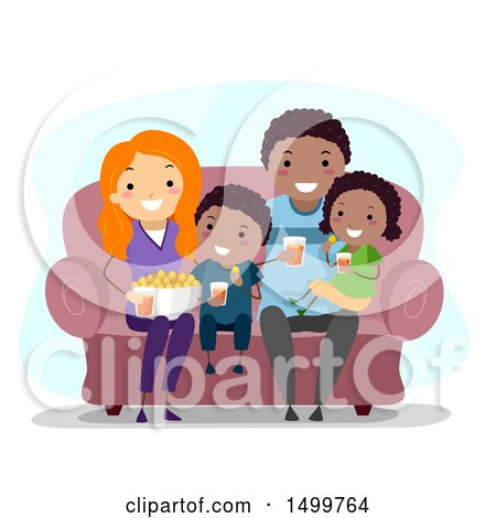 Happy Family Watching Tv Posters, Art Prints