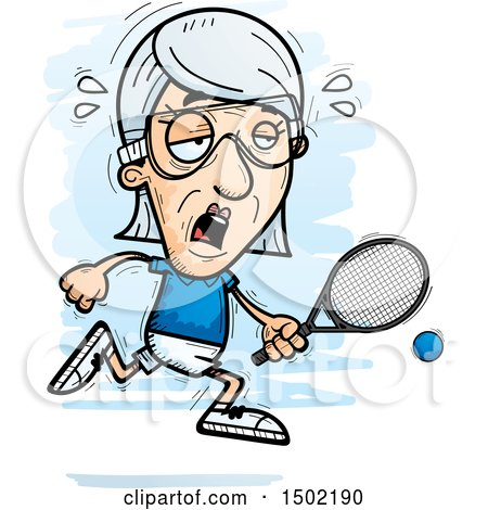 clipart of a tired caucasian senior woman racquetball player rh clipartof com racquetball clip art free racquetball racquet clipart