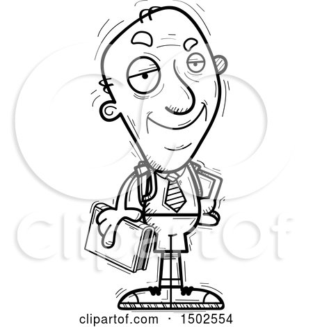 Clipart of a Confident Senior Male College Student - Royalty Free Vector Illustration by Cory Thoman