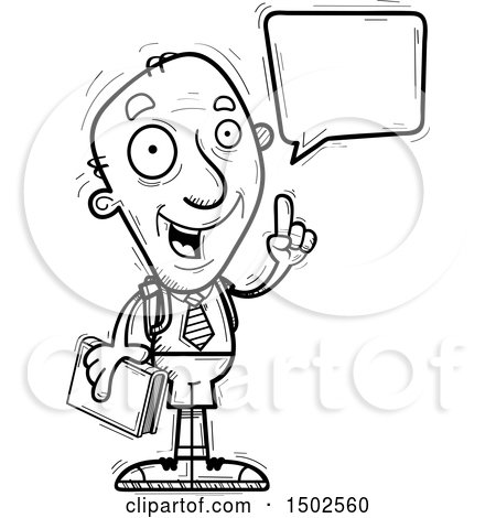 Clipart of a Talking Senior Male College Student - Royalty Free Vector Illustration by Cory Thoman