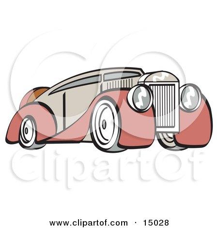 Red and Grey Luxury Sedan Car  Posters, Art Prints