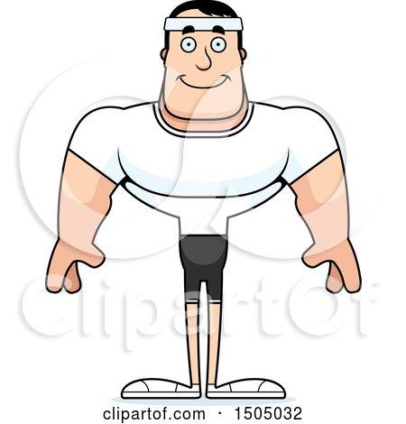 clipart of a happy buff caucasian male fitness guy royalty free rh clipartof com My Hero Cartoon The End Cartoon