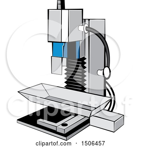 Clipart of a Milling Machine - Royalty Free Vector Illustration by Lal Perera