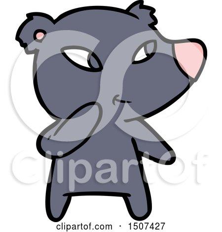 Cute Cartoon Bear by lineartestpilot