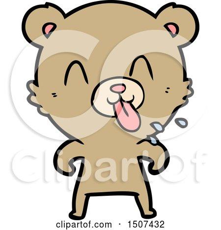 Rude Cartoon Bear by lineartestpilot