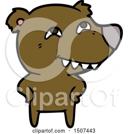 Cartoon Bear Showing Teeth by lineartestpilot