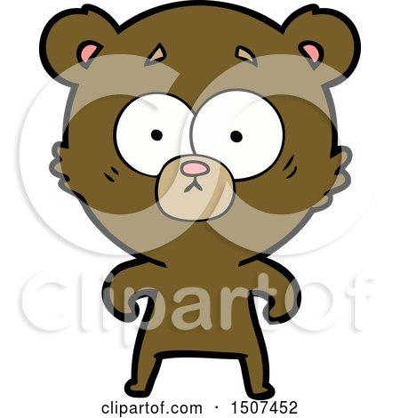 Surprised Bear Cartoon by lineartestpilot