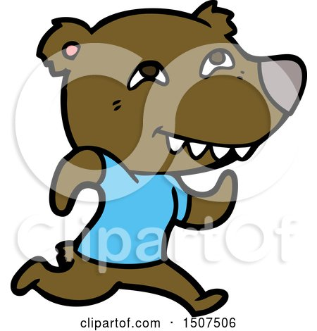 Cartoon Bear Running by lineartestpilot