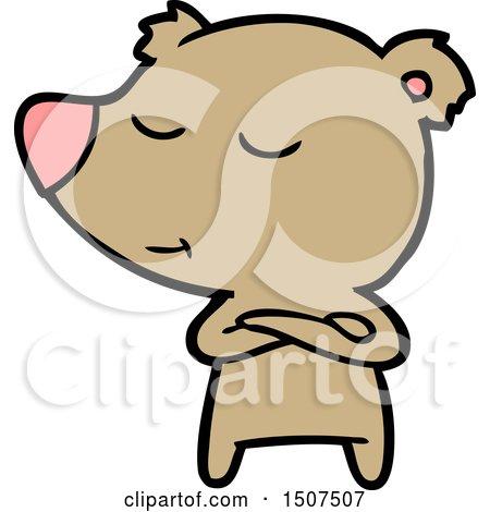Happy Cartoon Bear by lineartestpilot