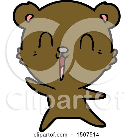 Happy Cartoon Bear by lineartestpilot