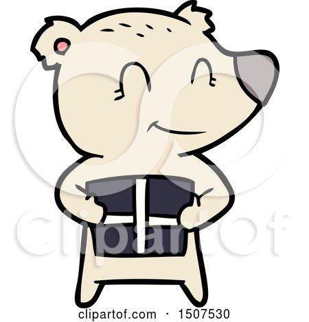 Christmas Polar Bear Cartoon by lineartestpilot