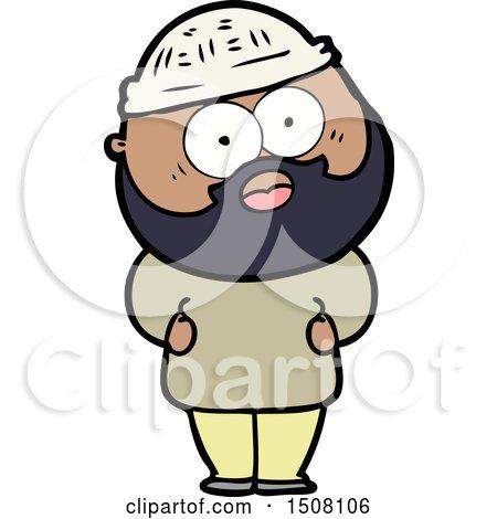 Cartoon Surprised Bearded Man by lineartestpilot