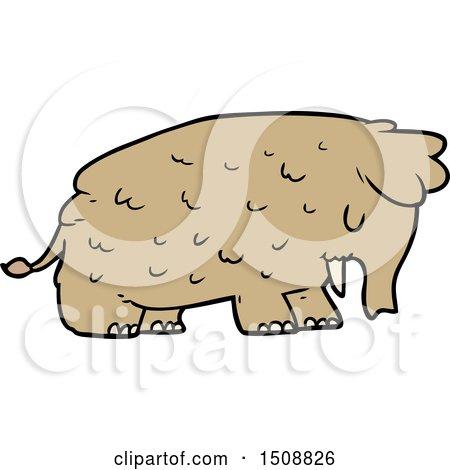 Cartoon Mammoth by lineartestpilot