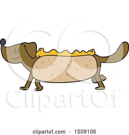 Cartoon Hotdog by lineartestpilot