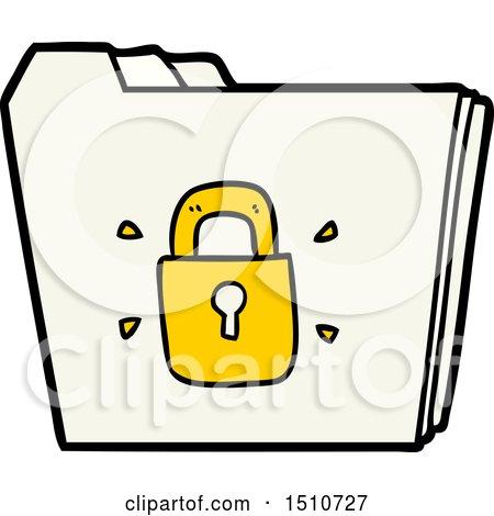 Cartoon Locked Files by lineartestpilot