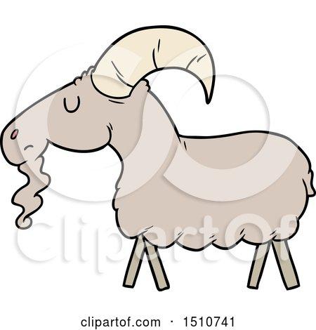 Cartoon Goat by lineartestpilot