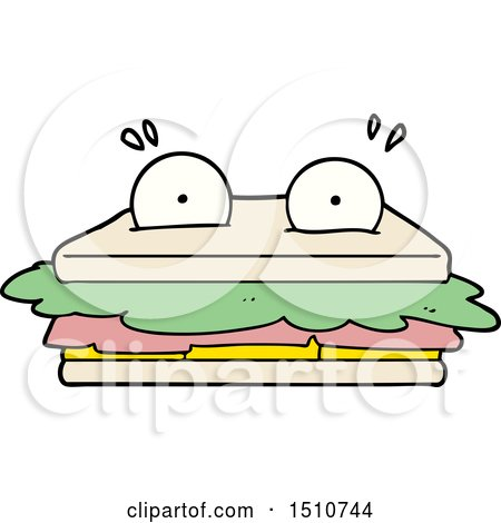 Sandwich Cartoon Character by lineartestpilot