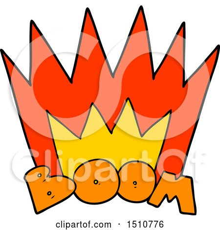 Cartoon Boom Sign by lineartestpilot