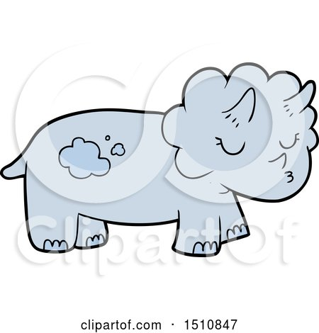Cartoon Triceratops by lineartestpilot