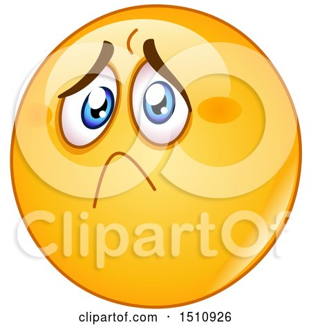 Clipart of a Sad and Hurt Yellow Emoji Smiley - Royalty Free Vector Illustration by yayayoyo