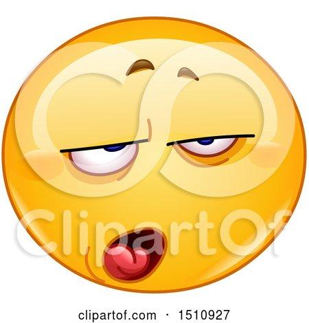 Clipart of a Contempt Yellow Emoji Smiley - Royalty Free Vector Illustration by yayayoyo
