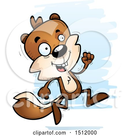 Clipart of a Running Male Squirrel - Royalty Free Vector Illustration by Cory Thoman