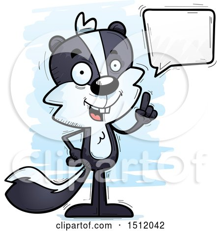 Clipart of a Happy Talking Male Skunk - Royalty Free Vector Illustration by Cory Thoman