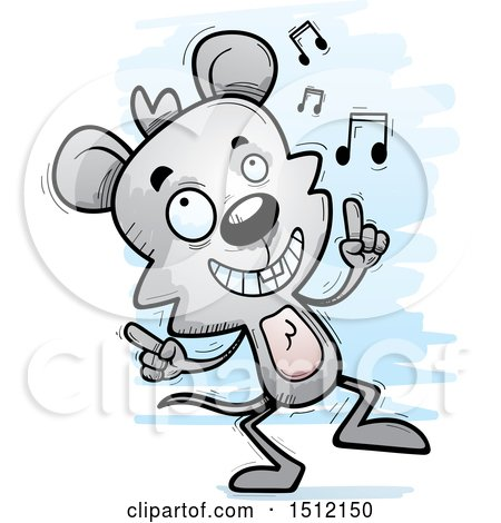 Clipart of a Happy Dancing Male Mouse - Royalty Free Vector Illustration by Cory Thoman