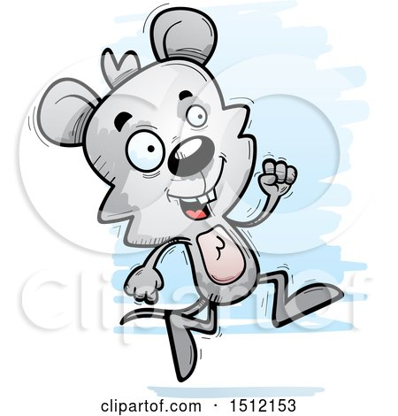 Clipart of a Running Male Mouse - Royalty Free Vector Illustration by Cory Thoman
