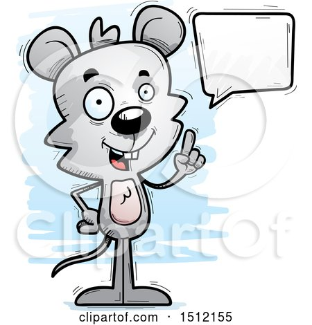 Clipart of a Happy Talking Male Mouse - Royalty Free Vector Illustration by Cory Thoman