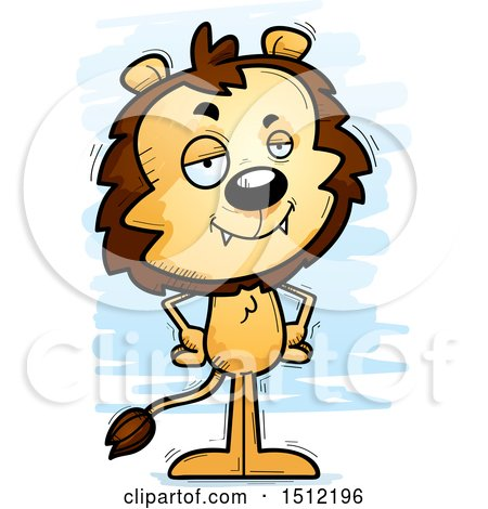 Clipart of a Confident Male Lion - Royalty Free Vector Illustration by Cory Thoman