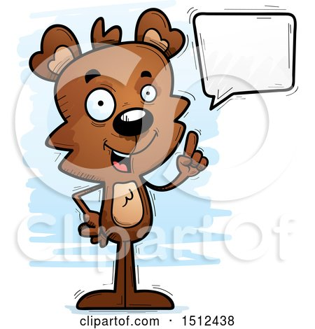 Clipart of a Happy Talking Male Bear - Royalty Free Vector Illustration by Cory Thoman