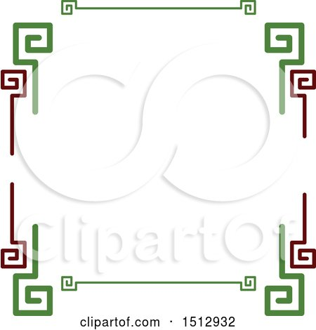 Clipart of a Mexican Styled Border - Royalty Free Vector Illustration by Vector Tradition SM