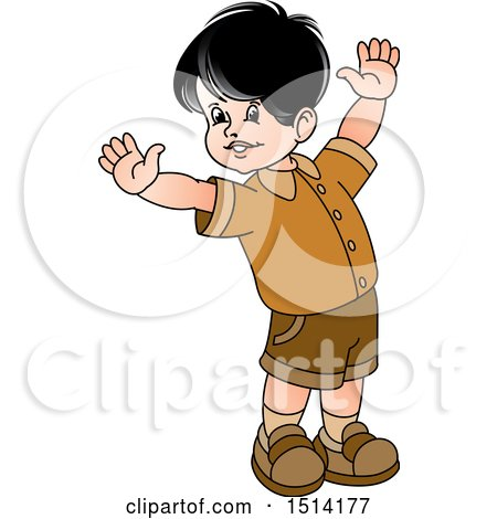 Clipart of a Happy Boy - Royalty Free Vector Illustration by Lal Perera