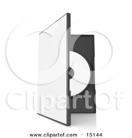 Dvd Or Software Case With A Blank Cover, Balanced Upright And Showing The Disc Inside Clipart Graphic Illustration by 3poD