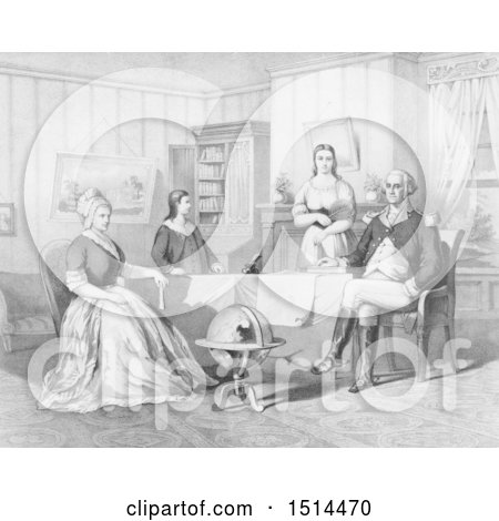 George and Martha Washington and Two Children by JVPD