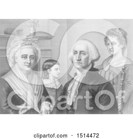George Washington and Family at Mount Vernon by JVPD