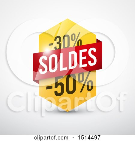 Clipart of a French Sales Design with 30 and 50 Percent off - Royalty Free Vector Illustration by beboy